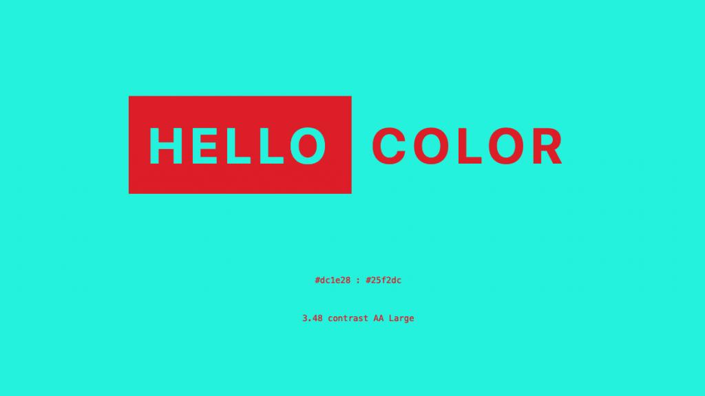 配色ツール「HELLO COLOR」のトップ画面キャプチャ