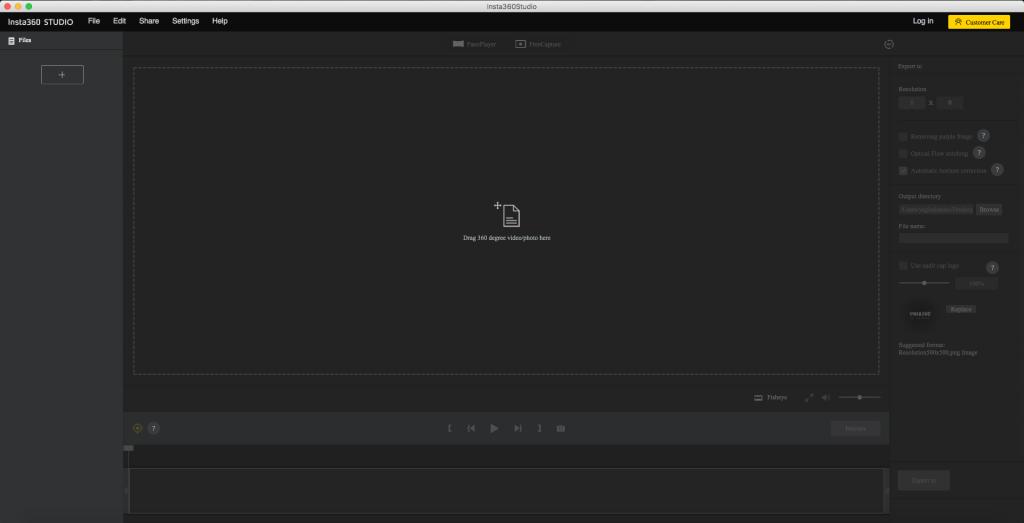 「360 editing software」の起動画面の画面キャプチャ