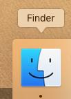 Mac(マック)のFinder(ファインダー)を起動します。