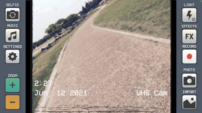 VHS風動画アプリ「VHS Cam - Retro Camcorder FX」の使い方
